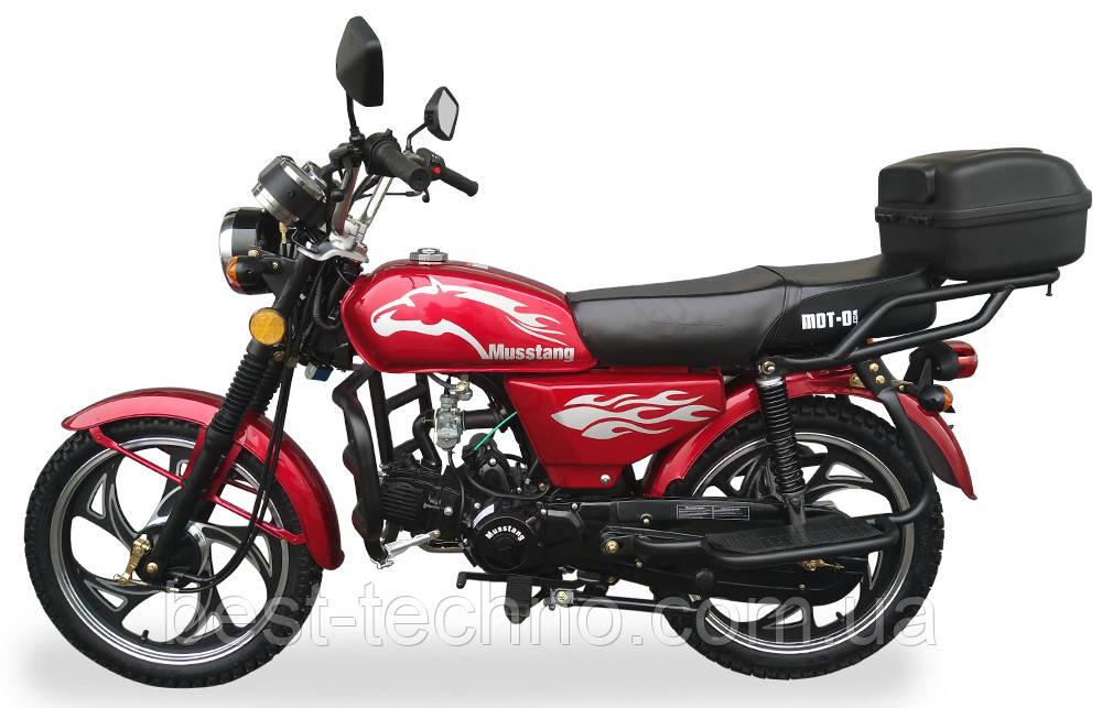 Мотоцикл Musstang Alfa MT110-2 red красный