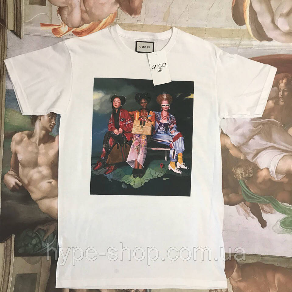 Женская футболка в стиле Gucci | Топчик