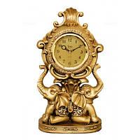 Каминные часы фигурами Слоников Jibo 5225-A