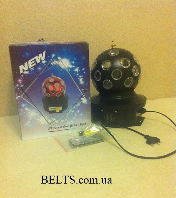 Вращающийся диско шар LED Crystal Magic Ball Light  с MP3, проектор для вечеринок Лед кристал Меджик Бол Лайт