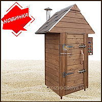Электростатическая Коптильня 250 л -холодного и горячего копчения, +просушка. Нержавейка внутри, крыша домиком