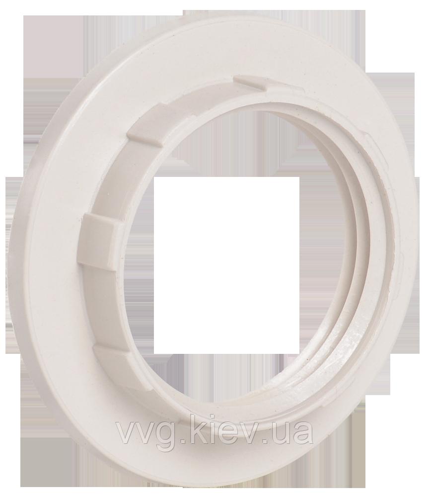 Кольцо к патрону, пластик, Е14, белый, индивидуальный пакет IEK