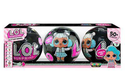 Кукла в шаре LoL Surprise ЛОЛ 3шт в коробке