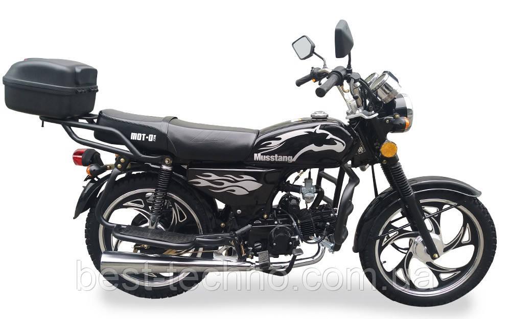 Мотоцикл Musstang Alfa MT110-2 black черный