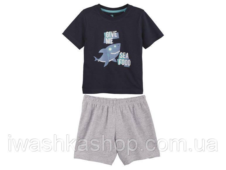 Хлопковая пижама для мальчика на 4 - 6 лет, Lupilu р. 110 - 116