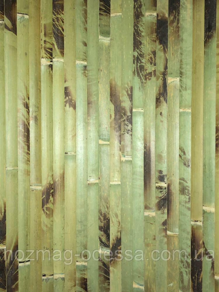 Бамбуковые обои  черепаховые зеленые, ширина 1,0м.