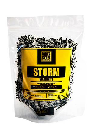 Рукавица для мойки автомобиля - Work Stuff Storm бело-черная (904416), фото 2