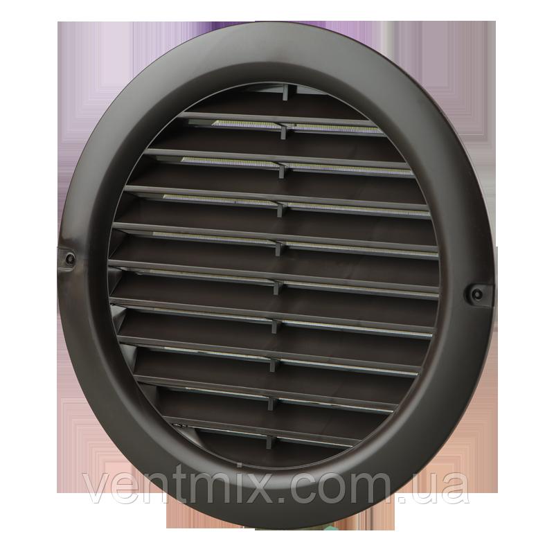 Вентиляционная решетка круглая МВ 100 бвс коричневая