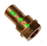 Погружная гильза латунная для датчика температуры 3/8, 10,5х12 мм, L=30 мм, на один зонд