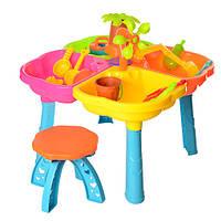 Дитячий столик - пісочниця зі стільчиком і аксесуарами