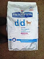 Hills (Хилс) Prescription Diet Canine d/d утка и рис 12 кг