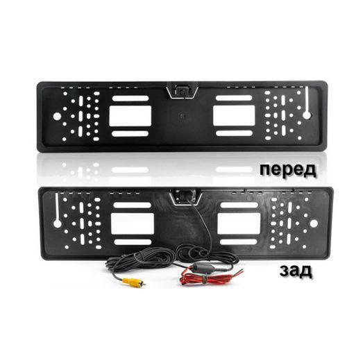 Автомобільна камера заднього виду номерна A58 silver з LED підсвічуванням