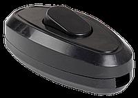 Выключатель одноклавишный разборный для бра, черный ВБ-01Ч IEK