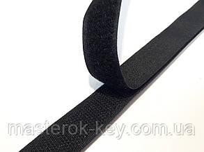 Липучка для одежды и обуви метражная 2см цвет Черный