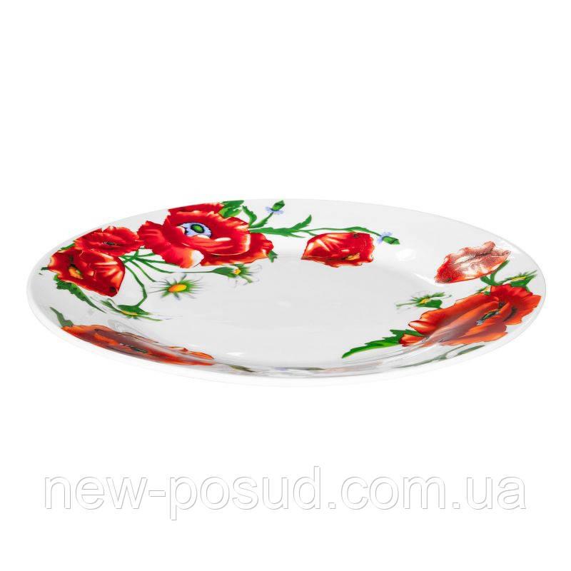 Тарелка обеденная Оселя Красные Маки 21-206-099
