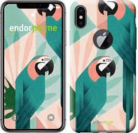 """Чехол на iPhone X Geometric birds """"4019c-1050-532"""""""