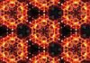 Купить 3D фотообои с цветами на стену : Молекулы из цветов CN3574