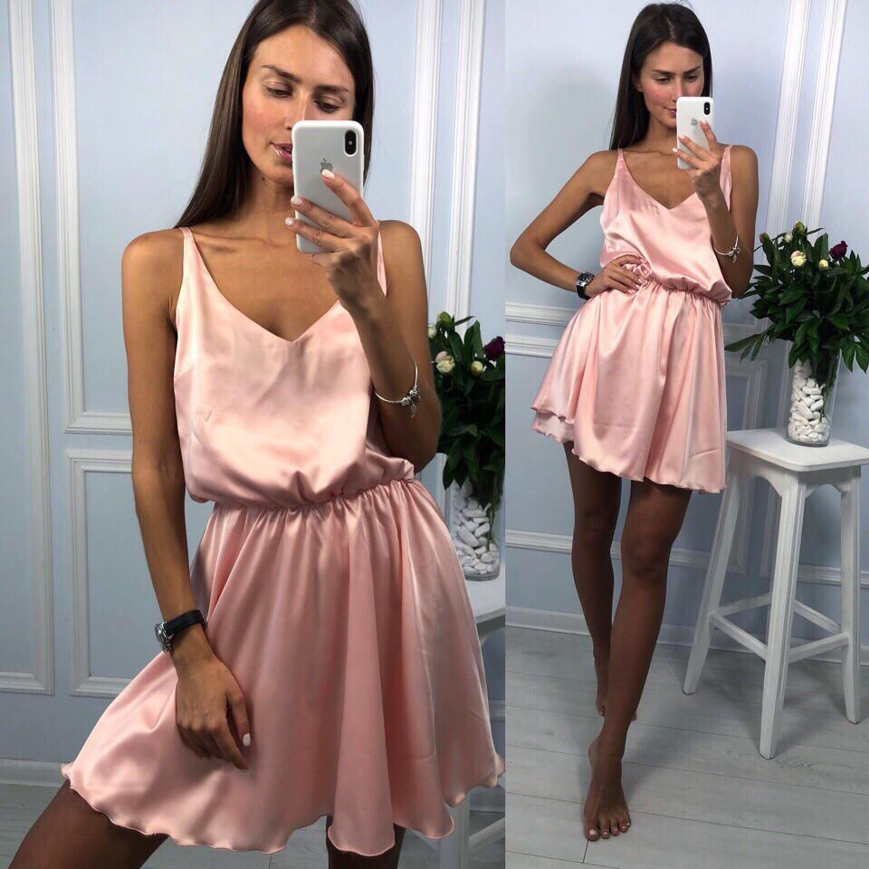 0ab870b148a Женское нежно розовое платье в греческом стиле из шелка - Интернет-магазин  ZeBazar - одежда