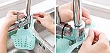Органайзер для кухонной мойки для мытья посуды регулируемый ПВХ, фото 7