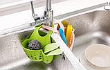 Органайзер для кухонной мойки для мытья посуды регулируемый ПВХ, фото 4