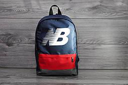 Рюкзак New Balance  городской, модный с принтом (синий), ТОП-реплика