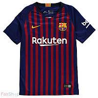 Юношеская игровая футболка Nike Barselona 2018/19, фото 1