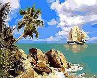 """Картина по номерам """"Морское путешествие"""" 40*50см"""