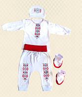 TM Dresko Комплект ясельный для мальчика Вышиванка кулир (44863)