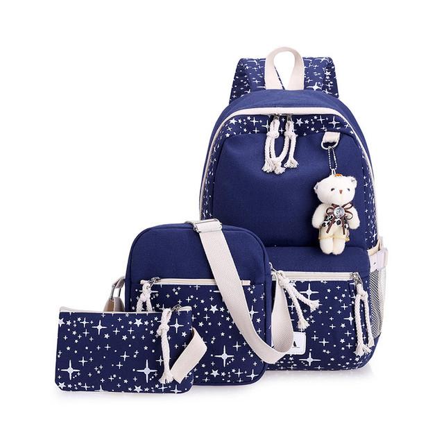 Школьный рюкзак с набором аксессуаров