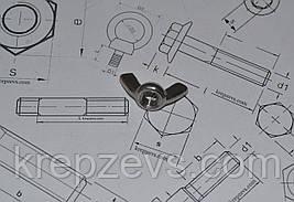 Гайка-барашек М4 нержавеющая А2 ГОСТ 3032 DIN 315