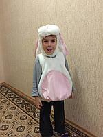 Прокат карнавального костюма Зайчишка белый, фото 1