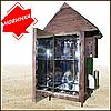 Электростатическая Коптильня 1300л -холодного и горячего копчения, +просушка. Нержавейка внутри, крыша домиком