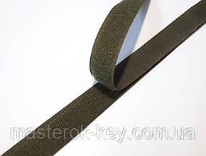 Липучка для одежды и обуви метражная 2см цвет Хаки