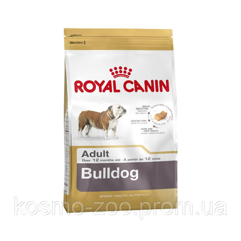 Сухой корм Роял Канин для собак породы бульдог (Royal Canin Bulldog adult), 3 кг