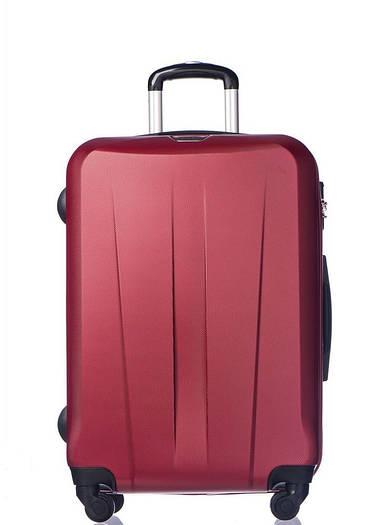 Средний пластиковый чемодан Puccini Paris на 4-х колесах