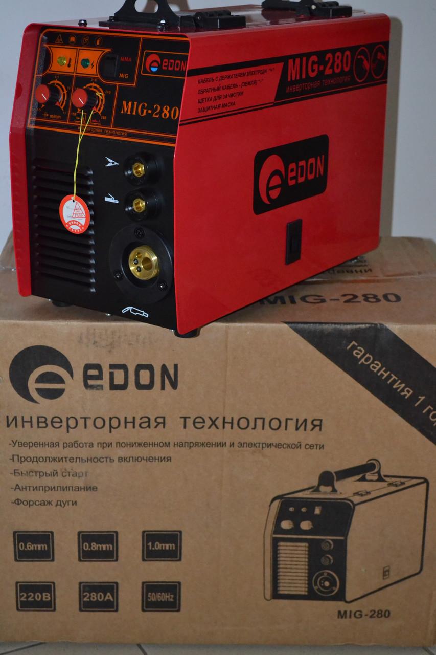 Зварювальний напівавтомат Edon MIG-280 2в1 (+ MMA)