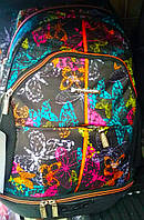 Рюкзак школьный с плотной спинкой для девочек Dolly 354, разноцветный