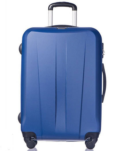 большой пластиковый чемодан Puccini Paris на 4-х колесах