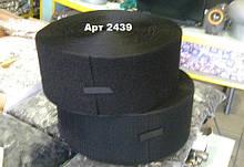 Липучка текстильна Чорна 100мм Петля Ціна за 10 см