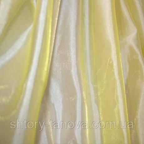 Муар радуга молочный-желтый