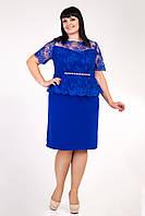 Платье женское баска   большого размера