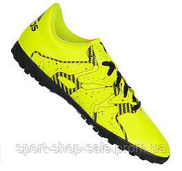 100% Оригинал Кроссовки сороконожки футбольные adidas X15.4 TF для  подростков и взрослых d2e92f8c1c6