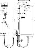 Душевая система Hansgrohe 27289000 Crometta E 240 1jet Showerpipe Reno, фото 2