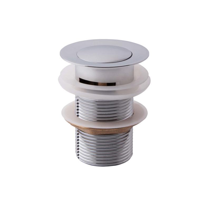Нажимной донный клапан 1 1/4 с переливом Potato P62-1 хром