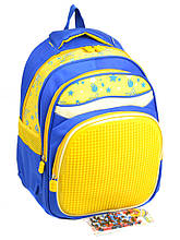 Детский рюкзак из нейлона A1611 pixel yellow