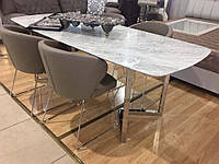 Стол обеденный Sweet dream, 1800х900х750 мм. из натурального мрамора