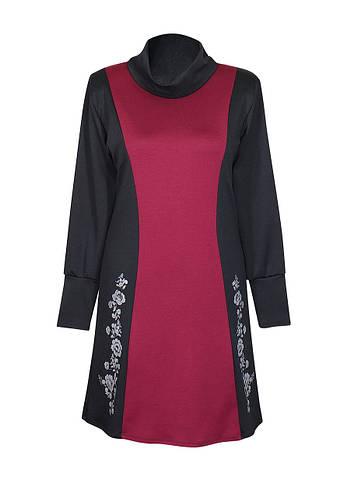Комбинированное платье с воротником Аленушка модное