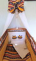 """Комплект  постельного белья для новорожденного """"Египетские кошки"""""""