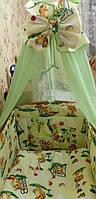 """Комплект  постельного белья для новорожденного """"Слоник"""""""