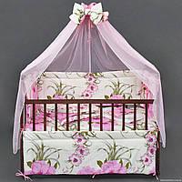 """Комплект  постельного белья для новорожденного """" Цветы """""""